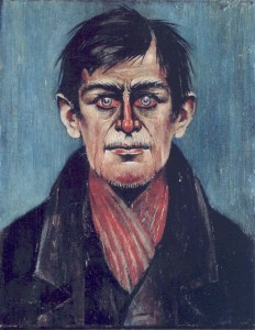 Head of a Man (with Red Eyes) LS LOWRY