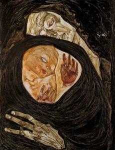 egon shicele dead mother 1910