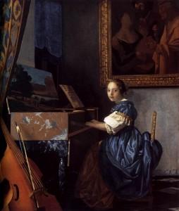 Johannes Vermeer Ragazzo seduta ad un virginale 1673