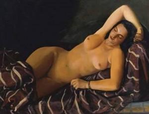 Virgilio socrate achille funi - nudo con drappeggio 1940