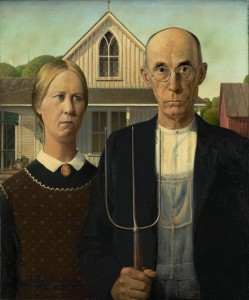 Grant Wood - American Gothic - 1930 - The Art Institute of Chicago