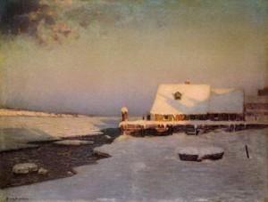 Winter Twilight by Lowell Birge Harrison