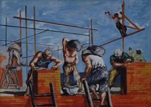 Attardi Ugo - muratori al lavoro