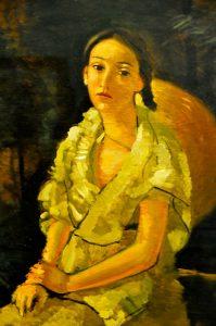 Andre derain - la niece du peintre assise